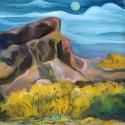 Pale Moon in Pueblo Land