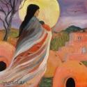 Pueblo Madonna by Moonlight