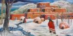 Snowfall at the Pueblo