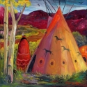 Taos Tipi at Dusk