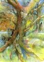 Tribal Tree with Spirits