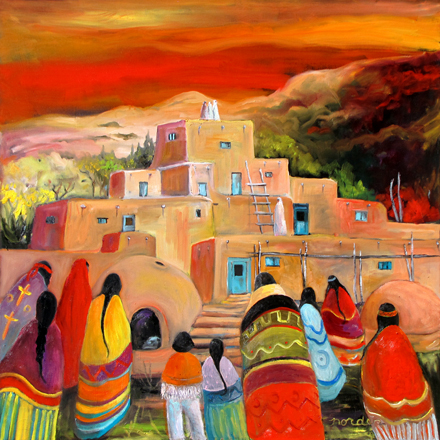 Red Dawn at the Pueblo